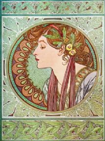 Art Deco Poster of a Womans face